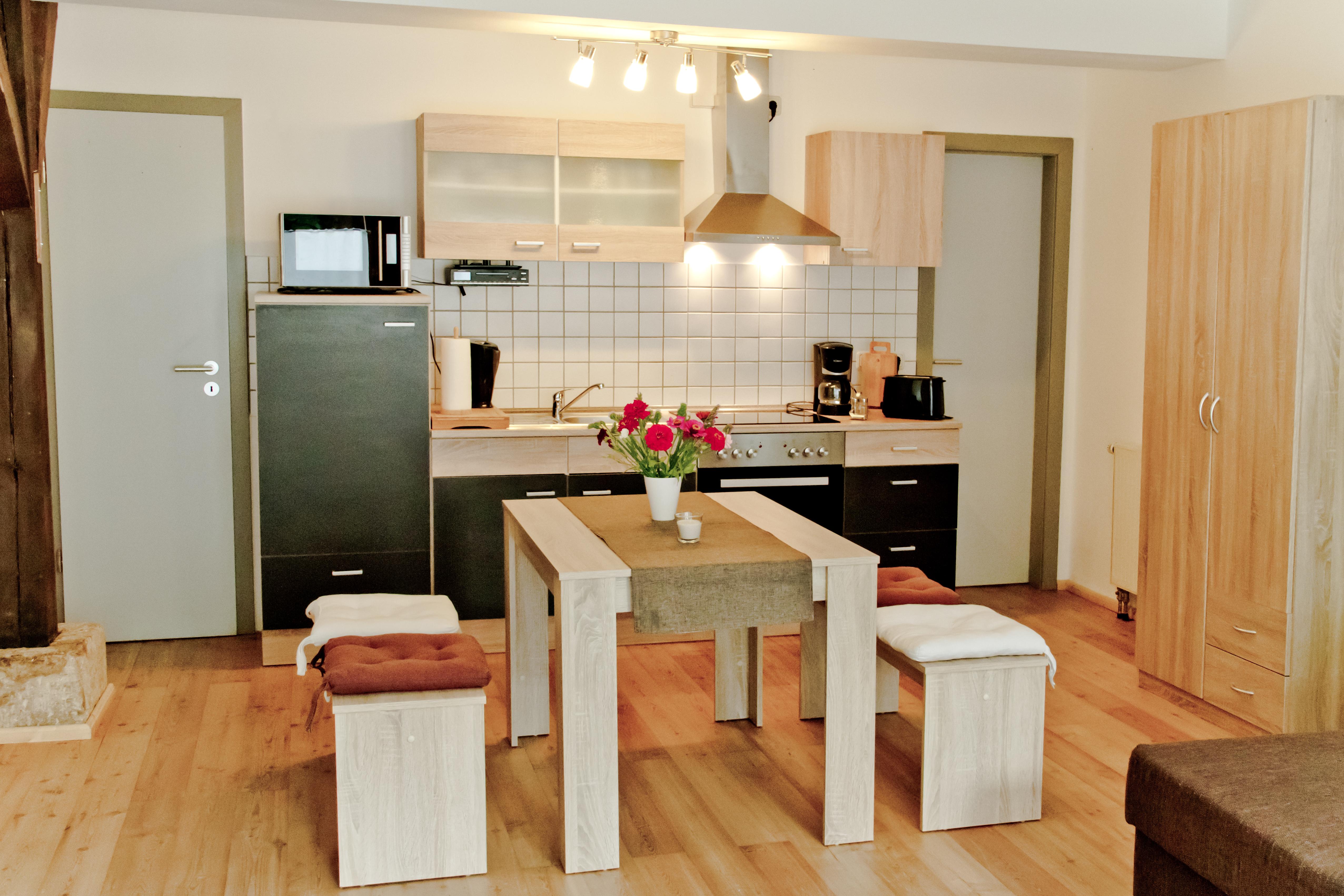 Koch und Essbereich